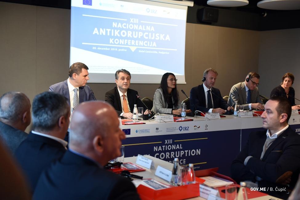 Nuhodžić: Rezultati u borbi protiv korupcije nesporni, pozivam civilni sektor da sarađujemo