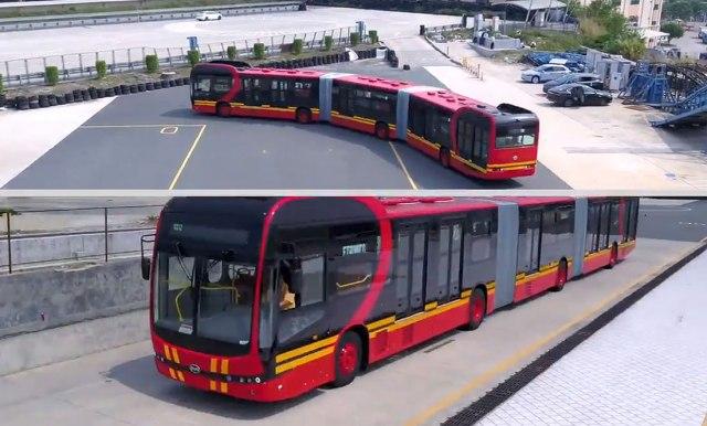 Najveći električni autobus na svijetu dug je 27 metara
