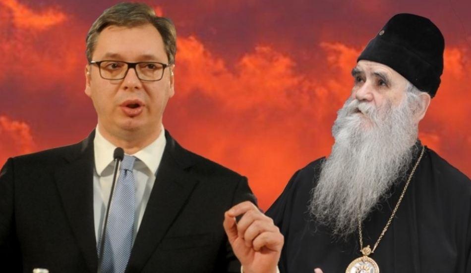 BOJKOT: Amfilohije večeras nije prisustvovao odlikovanju Vučića, zatražio vanrednI sabor SPC – Irinej ga odbio