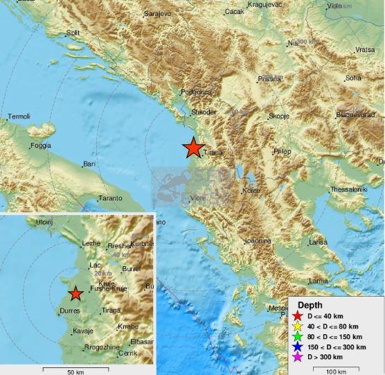Novi potres u Albaniji