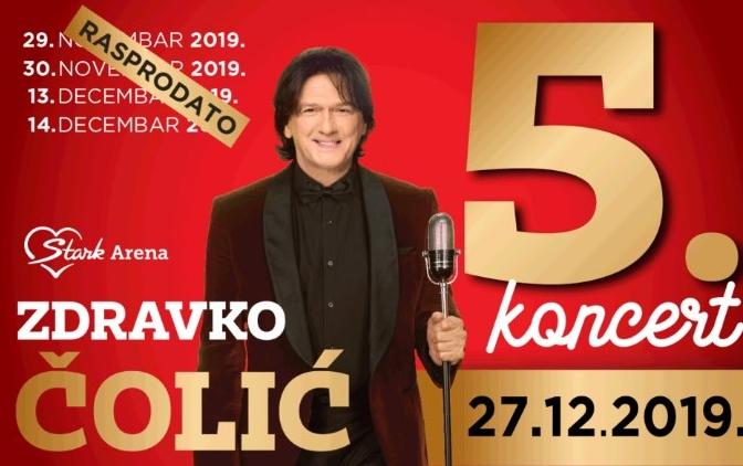 Čolić zakazao peti koncert u beogradskoj Areni