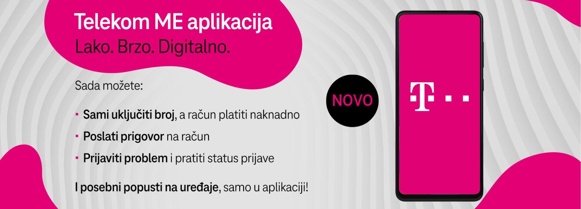 Unaprijeđena Telekom ME aplikacija: Još veća kontrola – brzo, lako i digitalno